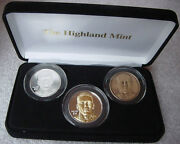 Randy Moss Roy Highland Mint 39mm 3 Coin Proof Set 237 Only 250 Sets Produced