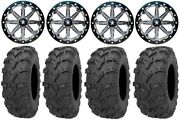 Msa Lok 14 Atv Wheels 28 Bear Claw Evo Tires Kawasaki Brute Force Irs