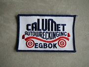 Vintage Calumet Auto Wrecking Inc Egbok Embroidered Patch Cars Trucks Sew On
