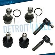 6pc Upper Lower Ball Joint Outer Tie Rod Kit For 1987-1996 Ford F-150 - 2wd Only