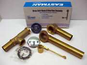 35201 Bath Tub Drain Waste And Overflow Assembly Brass Tubing Trip Lever Drain
