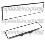 Jdm 300mm Wide Clear Glass Flat Rear View Mirror Clip On Anti-glare Clear Tint