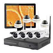Wireless Wifi Ip Camera Home Surveillance Security Cctv System With Hdmi Monitor