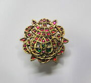 Rare Vintage Antique Ethnic Tribal 22k Gold Silver Hair Ornament South India