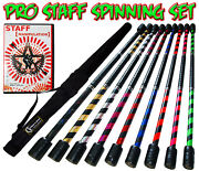 Flames N Games 1.4m Pro Contact Practice Fire Staff Set + Dvd + Bag- Spiral Deco