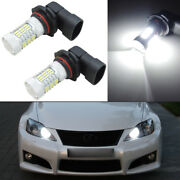 2pcs Hid White 9005 Hb3 45-4014-smd Led Bulbs For Car Daytime Runing Lights Drl