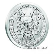 Pieces Of Eight A Predator World Silver Shield 1oz Silver Pirate Round In Stock