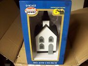 Model Power O Trains Buildings Church Built Up Lighted W' Figures 6350