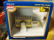 Model Power O Trains Buildings Brenson's House Built Up Lighted W' Figures 6370