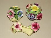 Lovely Lot Of 3 Radnor Bone China Floral Bouquets Staffordshire England