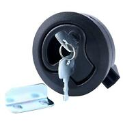 Black Plastic Marine Boat Deck Hatch 2and039and039 Flush Pull Latch For 1/4 Door Locking