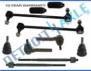 10pc Front Suspension Kit Tie Rod Ball Joint For 08-17 Dodge Grand Caravan