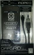 Incipio Offgrid Thin Battery Cell Phone Case For Apple Iphone 4/4s  Black