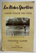 Rare 1954 Sport Fishing Illustrated Catalog Les Pêches Sportives Rods Reels...