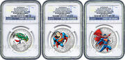 2014 Canada Superman 3-coin Silver Set - Ngc Pf69 First Releases - Only 14 Exist