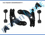 New 6pc Kit Lower Control Arm W Ball Joints + 2 Front Sway Bar Links Vw Jetta