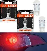 Sylvania Zevo Led Light 194 168 2825 Red Two Bulb License Plate Replace Lamp Oe