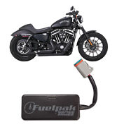 Vance And Hines Black Staggered Shortshots And Fp3 Fuelpak - Hd Sportster 2014-2016