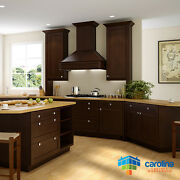 All Solid Wood Kitchen Cabinets, Brown Shaker Style Cabinets 10x10 Rta Cabinets