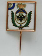 Original Russian Imperial Solid Gold Badge Made As A Regimental Flag, Medal