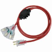 4 Master Electric 100and039 14/3 Sjtwa Outdoor Red Extension Cords Circuit Breaker