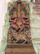 Anciet Ganesha Statue, Hand Carved From Maharaja Indian Palace