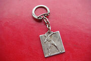 Rare Old 1930 Throwing Weight Sports Championship Silvered Key Ring Medal