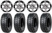 Itp Ss212 15 Wheels Machined 32 Chicane Rx Tires Arctic Cat Tbx Trv Mudpro