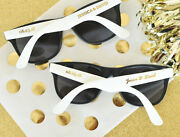 Personalized Sunglasses Black Or Pink Metallic Gold Wedding Shower Party Favor