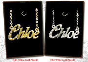 Name Necklace 18k Gold Plated Amy Angela Anna Bethany Caitlin Charlotte