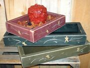 Country Primitive Rustic Decorative Candle Boxes 3 Size Options Amish Made Usa