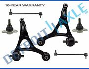 6pc 2003-2014 Volvo Xc90 Front Lower Control Arm Ball Joint Sway Bar Link Kit