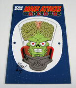 Mars Attacks The Holidays 1 Variant Cover C Signed By Dean Haspiel Idw Comics