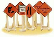 Lionel O Or O27 6-32902 6 Construction Zone Signs New In Pack