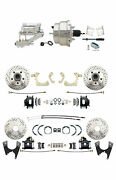 Gm 1959-64 Front And Rear Chrome Power Disc Brake Conversion Kit Black Pc Calipers