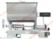 1000ml Paste Filling Machine For Peanut Butterwith Big Mixer Hopper 110v