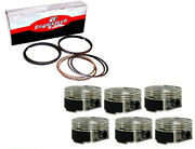 Dome Pistons W/ Coated Skirts And Pins For 2000-2006 Jaguar 3.0l Dohc Duratec