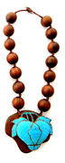 Qing Dynasty Kingfisher Feather Necklace Wood Antique Vintage 19th Tian-tsui 點翠