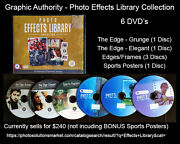 Photoshop - Photo Effects Library Design Elements Brushes Templates 6 Dvdand039s