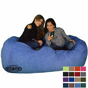 Bean Bag Chair 7and039 Foot Cozy Bean Bag Sack N740 Pick Your Color