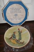 Norman Rockwell Four Seasons Collector Plates By Gorham 1976 Mib