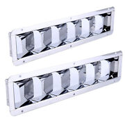 Pair Boat Marine Stainless Steel Vent - 6 Louver 12-7/8 In X 3 In - Amarine-made