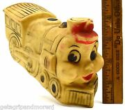 Vintage Rubber Train Engine Squeeze Toy Thomas-looking Locomotive By Jolly C1959
