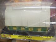Mth Railking O Scale Trains Green With Gray Roof Barn 30-90406