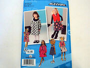 Simplicity Sewing Pattern Toddlers Dress Jumper Vest Girl Sz 1/2-4 Or 4-8 2157