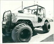 1972 Man In Jeep With Sides And Top Open Original News Service Photo