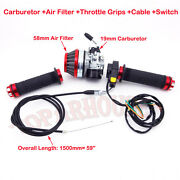 Carburetor Filter Throttle Grips Cable Switch 50 60cc 80cc Motorized Gas Bicycle