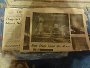 The Louisville Times Lot Of Newspapers Neil Armstrong Astronaut 1969