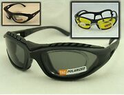 Padded Glasses Rx Adaptable Polarized Yellow Or Clear Lenses 2 Pair 540548