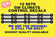 2007-2013 Gm Button Repair Decals Stickers Climate Control A/c Radio Chevrolet